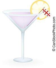 Georgia Cocktail - Cocktail with a flag of Georgia.