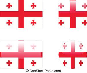 Georgia flag & buttons