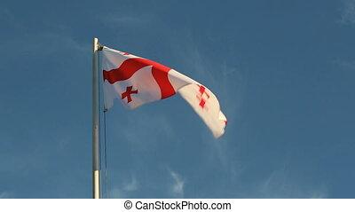 Georgia flag in slow motion