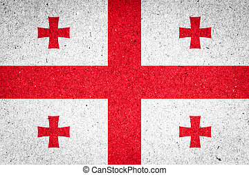 Georgia flag on paper background