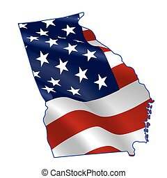 Georgia full of American flag