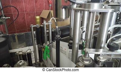 Line for cork wine bottles and labeling - Georgia, Kakheti...