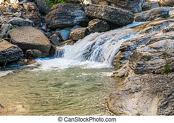 georgia, kutaisi, kinchkha, cañón, cascada, pequeño