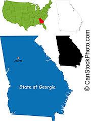 Georgia map - State of Georgia, USA