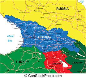 Azerbaijan map Highly detailed vector map of azerbaijan clip art