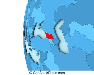 Georgia on blue globe