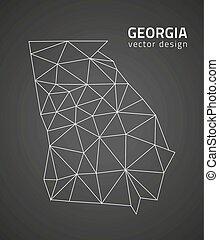 Georgia vector polygonal triangle map