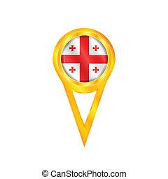 Georgia pin flag