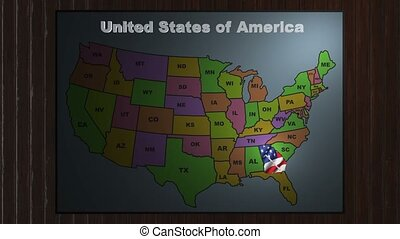 Georgia pull out from USA states abbreviations map - State...
