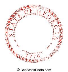 Georgia Red Ink Stamp