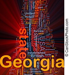 Georgia state background concept glowing - Background...