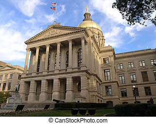 Georgia State Capitol 5 - Georgia State Capitol with gold...