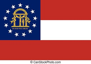 Georgia State Flag, USA. Vector Format