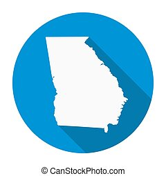 Georgia State Map Flat Icon