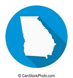 Georgia State Map Flat Icon