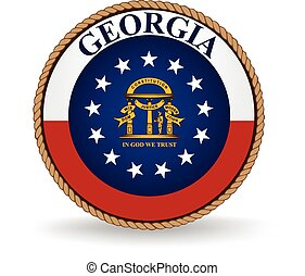 Georgia State Seal - Seal of the American state of Georgia.