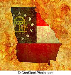 Georgia state with flag