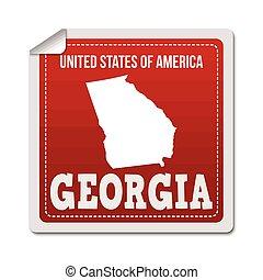 Georgia sticker or label