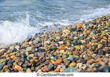 georgia., tengerpart, partvonal, batumi