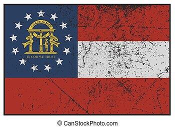 georgia tillstånd, flagga, grunged
