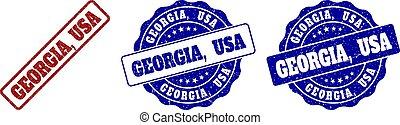 GEORGIA, USA Grunge Stamp Seals
