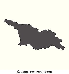 Georgia vector map. Black icon on white background.