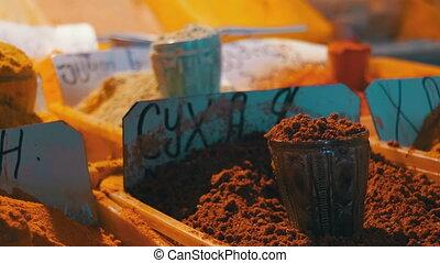 Georgian And Oriental Spices On The Market - Georgian,...