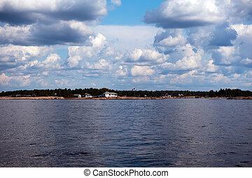 Georgian Bay Ontario Canada - Rocky shoreline in Georgian ...
