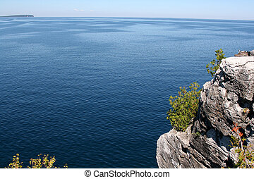 Georgian Bay Outlook - The view from a top the cliffs at ...