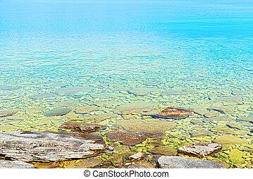 Georgian Bay waters near Tobermory in Ontario, Canada