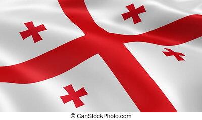 Georgian flag in the wind
