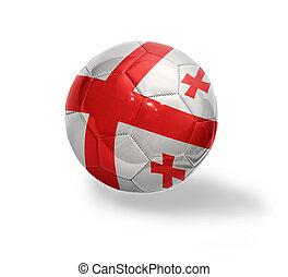 Georgian Football - Football ball with the national flag of...