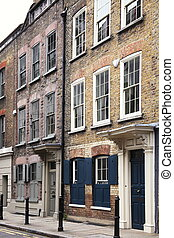 Georgian Huguenot Terraced Houses - Georgian terraced town...