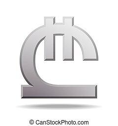 Georgian lari currency symbol, vector illustration isolated on white background