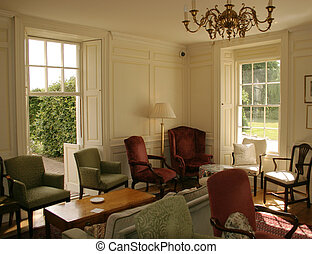 Georgian Lounge - Georgian Country Manor House interior...
