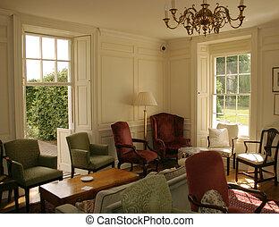 Georgian Country Manor House interior lounge