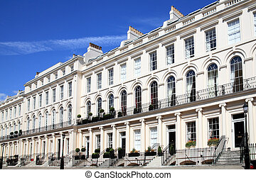 Georgian Terraced Houses - Regency Georgian terraced town...
