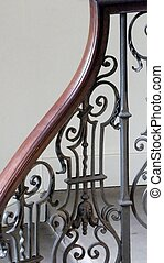 georgian, treppenaufgang, treppengeländer