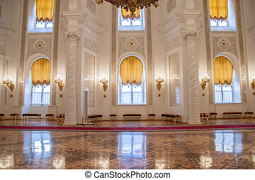 georgievsky, hala, od, kreml, pałac, moskwa
