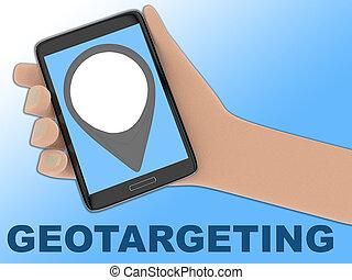 geotargeting, pojęcie, -, handlowy