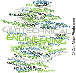 Geotechnical engineering - Abstract word cloud for...