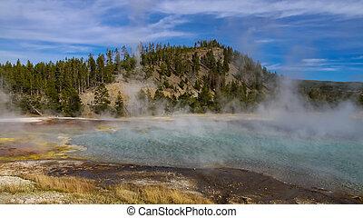 geotermico, yellowstone, attività, parco nazionale