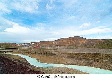 Geothermal area near myvatn