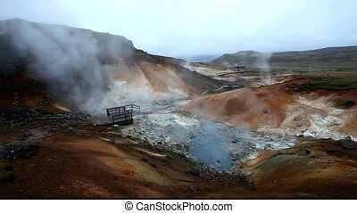Geothermal area Seltun near Krysuv - Geaothermal area Seltun...
