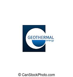 Geothermal energy icon - Geothermal energy vector sign...