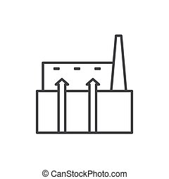 geothermal outline flat icon vector design illustration.