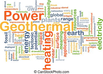 Geothermal power background concept - Background concept...