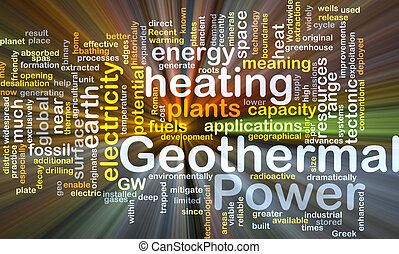 Geothermal power background concept glowing