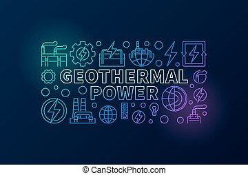 Geothermal Power creative illustration - vector colorful...