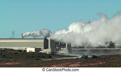 Geothermal power plant at gunnvher